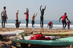 Dfrost Almugar Surf & Yoga House, Morocco Beach warm up for surfing
