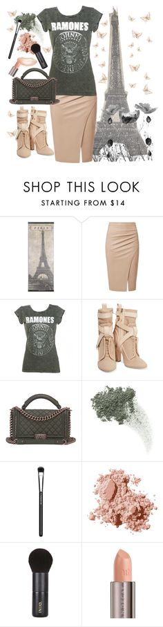 """""""The Ramones Do Paris....."""" by loves-elephants ❤ liked on Polyvore featuring Fendi, Chanel, Bare Escentuals, MAC Cosmetics, Bobbi Brown Cosmetics, INIKA and Urban Decay"""