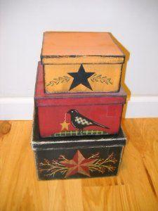 Primitive boxes...