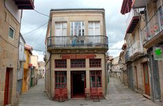 Allariz-Ourense-Galicia-Spain our house was the 3 story white balcony to the right of Carmen's!