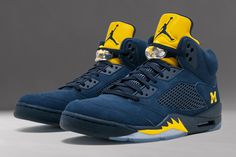 "c259e810fc8 Sneaker Talk  Air Jordan 5 ""Michigan"" Sneaker Bar"
