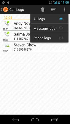 forfone calllog Android - new design News Design, Android, Messages, App, Phone, Telephone, Apps, Phones