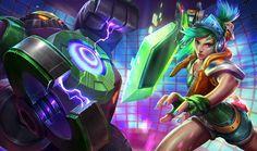 Arcade Riven & Battle Boss Blitzcrank Splash Art