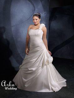 Νυφικα Φορεματα ΟΙΚΟΝΟΜΙΚΑ : Νυφικό Φόρεμα, Satin, Λευκό,.. Κωδ. 3071 Summer Wedding, Dream Wedding, Satin Flowers, Plus Size Wedding, Flower Shape, Dress P, One Shoulder Wedding Dress, Marie, Wedding Gowns