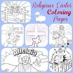 Teach the real meaning of Easter with these FREE Religious Easter Coloring Pages Printables Make your world more colorful with free printable coloring pages from italks. Our free coloring pages for adults and kids. Easter Projects, Easter Crafts, Easter Ideas, Diy Projects, Easter Coloring Pages Printable, Resurrection Day, Easter Colouring, Egg Coloring, Easter Religious