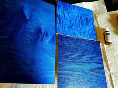 Using Wood Dyes On Maple and Oak - Blue Dye - Blue Wood Stain - YouTube