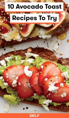 Savory cheeses, filling fruits and veggies and protein-packed nuts take these toasts up a notch come cooler weather. Healthy Prawn Recipes, Healthy Food List, Healthy Eating For Kids, Avocado Recipes, Curry Recipes, Diet Recipes, Healthy Snacks, Healthy Dinners, Recipies