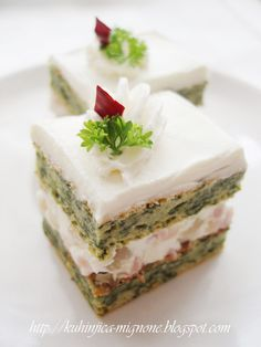 La cuisine creative: Zelene kockice