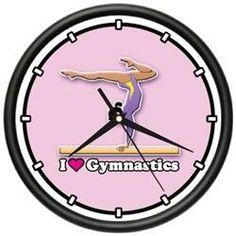 GYMNASTICS ~Wall Clock~ gymnast leotard tights gift