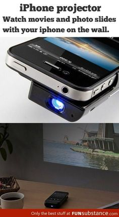 iPhone projector. This would be amazing!! More at http://atechpoint.com/ #tech #atechpoint      http://goo.gl/f0SohK