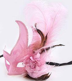 Light Pink Mardi Gras Mask