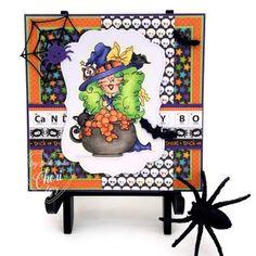 """Digi Doodle Studios handmade card by DT Cheri using New Holiday Release Digi Stamp """"Raven"""" Digital Stamps Girl Stamps Instant Downloads"""