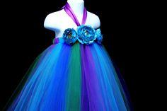 for Zoe's fairy photoshoot  Peacock Inspired Tutu Dress Series II