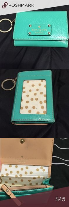 b9a519f7f16046 Gently used Tiffany blue Kate Spade wallet In great condition! kate spade  Bags Wallets Kate