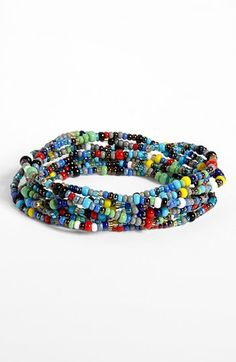 Love this beaded bracelet AND only $10 AND half of net profits go to Free the Children!!!!!