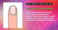 Kenali personaliti melalui kuku jari~ - Bentuk panjang