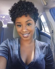 Short Curly Weave Hairstyles 2019 Black short curly hairstyles women medium lenght latest ideas for luvfly hair cut and also weave bobs drawing apem Natural Hair Cuts, Natural Curls, Natural Hair Styles, Natural Beauty, Cute Short Natural Hairstyles, Natural Hair Short Cuts, Simple Hairstyles, Beautiful Hairstyles, Short Curly Hair