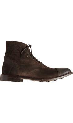 Alexander McQueen Cap Toe Balmoral Boot