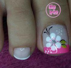 Manicure And Pedicure, Erika, Nailart, Mary, Designed Nails, Toenails Painted, Simple Toe Nails, Toe Nail Art, Pretty Pedicures