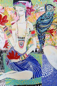 Arts And Crafts Kitchen Refferal: 1033841167 Art And Illustration, Illustrations, Painting Inspiration, Art Inspo, Mexico Art, Indigenous Art, Australian Artists, Figurative Art, New Art