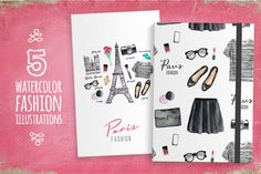 Paris style (fashion illustrations) by SoNice on Creative Market