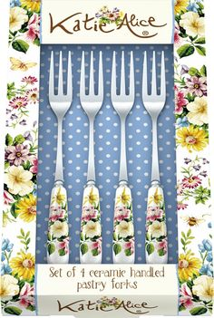 New Katie Alice Pastry Fork set from the English Garden collection.