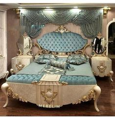 Bedroom Design Ideas – Create Your Own Private Sanctuary Luxury Bedroom Design, Bedroom Bed Design, Bed Linen Design, Home Interior Design, Master Bedroom, Royal Bedroom, Classic Bedroom Furniture, Luxury Furniture, Bedroom Classic