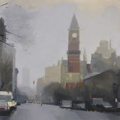 Lisa Breslow, Jefferson Market Library 2012, Oil and pencil on panel