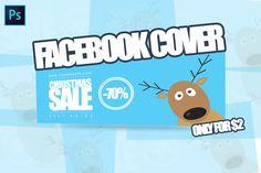 #Christmas #Facebook Cover by Flotas Media Market on @creativemarket