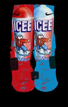 Icee Inspired by Prieto Custom Nike Elite Socks by LuxuryElites . Funky Socks, Crazy Socks, My Socks, Llama Socks, Silly Socks, Nike Elite Socks, Nike Socks, Sport Socks, Nike Shoes Cheap
