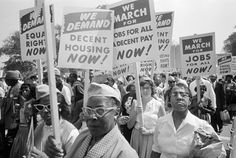 These signs look like those used during the March on Washington for Jobs and Freedom, August 28, 1963