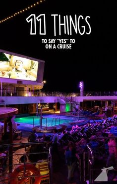 """Here's what happens when you say """"yes"""" to everything for a whole day on a cruise."""