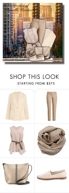 """""""A Little Bit of Brunello Cucinelli - Contest!"""" by sarahguo ❤ liked on Polyvore featuring Brunello Cucinelli"""