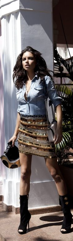 Chic In The City~ Adriana Lima...Vogue - #LadyLuxuryDesigns