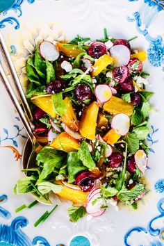 Cherry & Golden Beet Salad  Image Via: Camille Styles