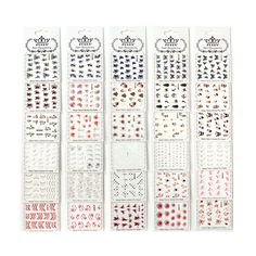 PUEEN Nail Art Water Tattoo Sticker Collection WM1 - 30 Packs All Different Designs (Over 600 Stickers) Gold and Silver and Colorful Glitter Rhinestones Rose Heart Butterfly Nails Decal Decorations-BH000443 * Find out more about the great product at the image link.