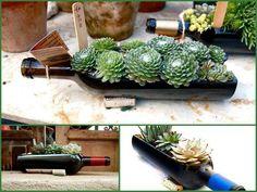 Centrotavola creativi realizzati con bottiglie   Fai da Te Creativo