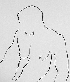Male Nude Line Drawing Minimalist Art Ink Art Black and White Print Modern Art Figurative Art Minimalist Drawing, Minimalist Art, Guy Drawing, Figure Drawing, Drawing Style, Drawing People, Drawing Tips, Outline Drawings, Art Drawings