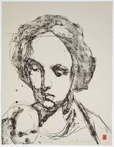 Kuutti Lavonen: Suhde, 2019, litografia. (KUVA: RAUNO TRASKELIN) Cy Twombly, Caravaggio, Tempera, Rembrandt, Buddha, Fine Art, Finland, Museum, Historia