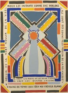 Vicente Huidobro, Poemas Pintados/Salle XIV - Moulin.
