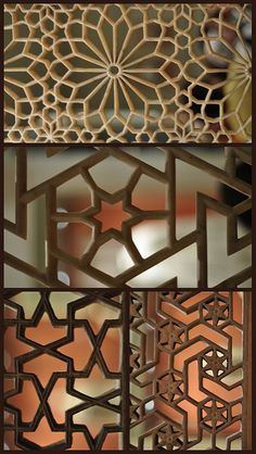 Carved Window Screens   Little collage from a visit to the V…   Flickr