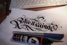 Calligraphy collection: part one. by Pokras Lampas, via Behance (in Russian)