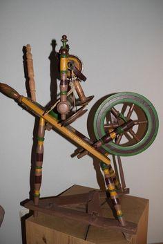*Schönes altes Spinnrad, handgearbeitet - Gründerzeit (609-15) * in Bastel- & Künstlerbedarf, Handarbeit, Spinnen & Filzen | eBay!