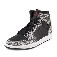 separation shoes 82570 3bee6 Nike Jordan Men s Air Jordan 1 Retro High Black Gym Red Cmnt Grey Anthracite  Basketball Shoe 13 Men US