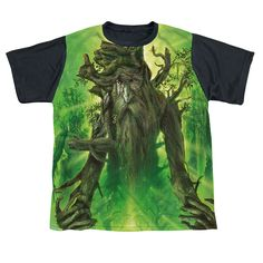 Lord Of The Rings Treebeard Short Sleeve Shirt Big Boys White Front Black Back