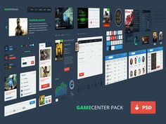 Gamecenter UI Pack, #Breadcrumb, #Buttons, #Calendar, #Cart, #Chart, #Equalizer, #Free, #Graph, #Icon, #Loading, #Map, #Menu, #Navigation, #Player, #Profile, #Progress, #PSD, #Resource, #Search_Field, #Slider, #Switch, #Tab, #Table, #Tag, #Toggle, #UI