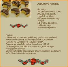 Christmas Candy, Christmas Baking, Christmas Cookies, Czech Recipes, Baking Recipes, Sweet Tooth, Deserts, Food And Drink, Sweets