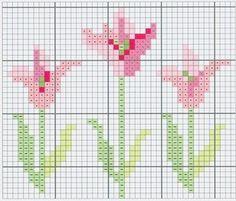 tulips - free cross stitch chart