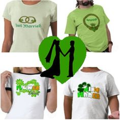 Wear fun t-shirts to celebrate a marriage with a St. Patrick's Day theme for the bride, groom and wedding party. Everyone loves t-shirts. Have...