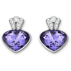 Swarovski Oceanic rhodium-plated crystal stud earrings @ Ernest Jones
